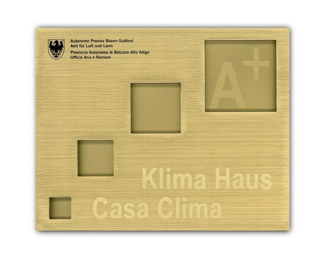 targa energetica CasaClima A+