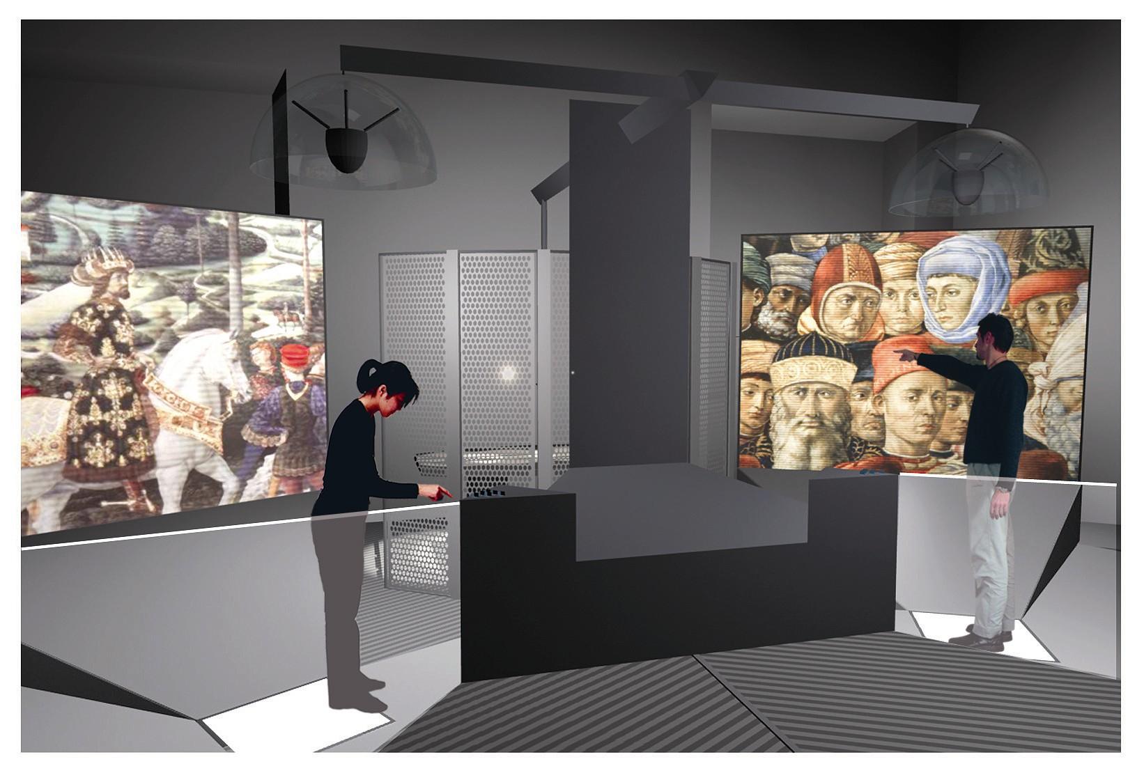 Il Laboratorio multimediale nel Museo di Palazzo Medfici Riccardi a Firenze