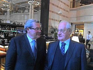 Il presidente della Provincia di Prato Gestri con Cesare Romiti
