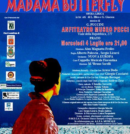Locandina della Madama Butterfly al Pecci