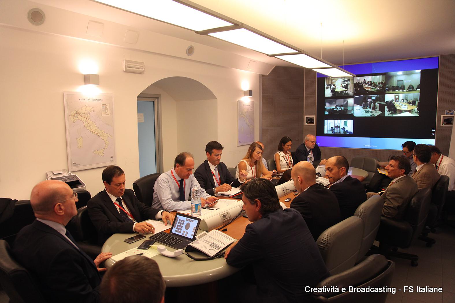 Riunione di emergenza alla sede centrale del Gruppo FS Italiane per gli ultime avvenimenti