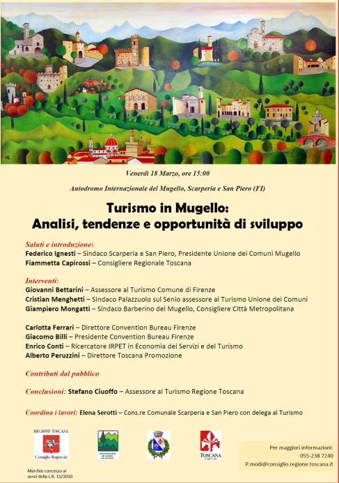 Locandina convegno Turismo in Mugello