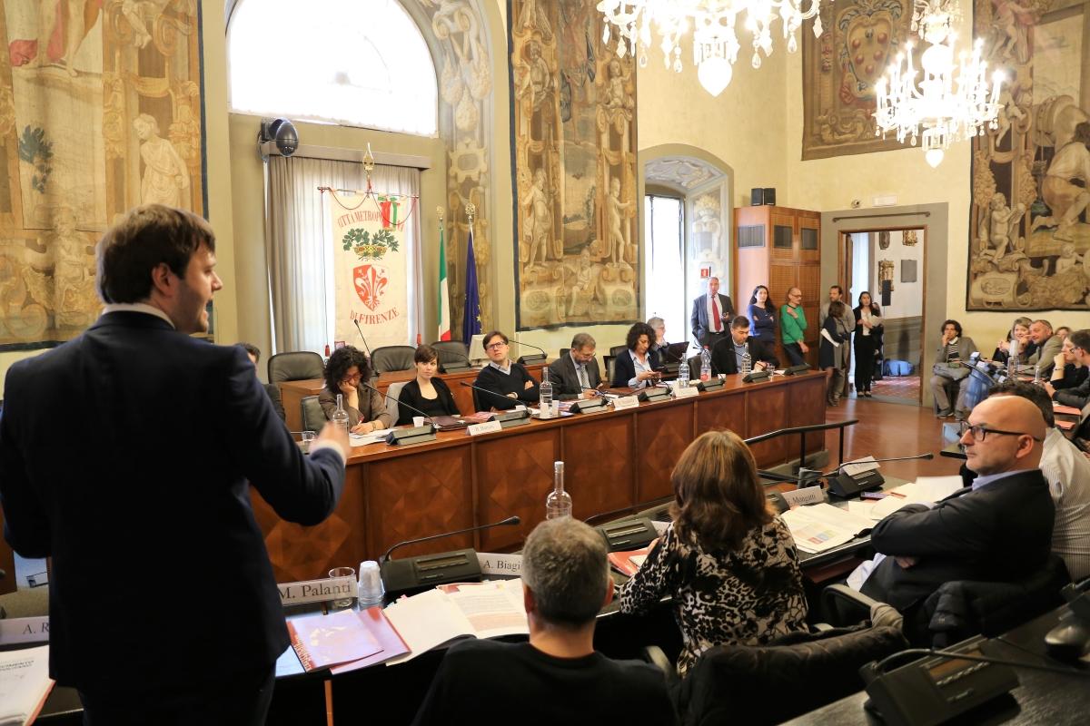 Il Consiglio Metropolitano di Firenze (foto di Antonello Serino, Redazione di Met-Ufficio Stampa)