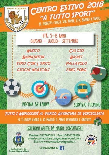 MET - Bagno a Ripoli - A Tutto Sport, Centro estivo Sport Academy al ...