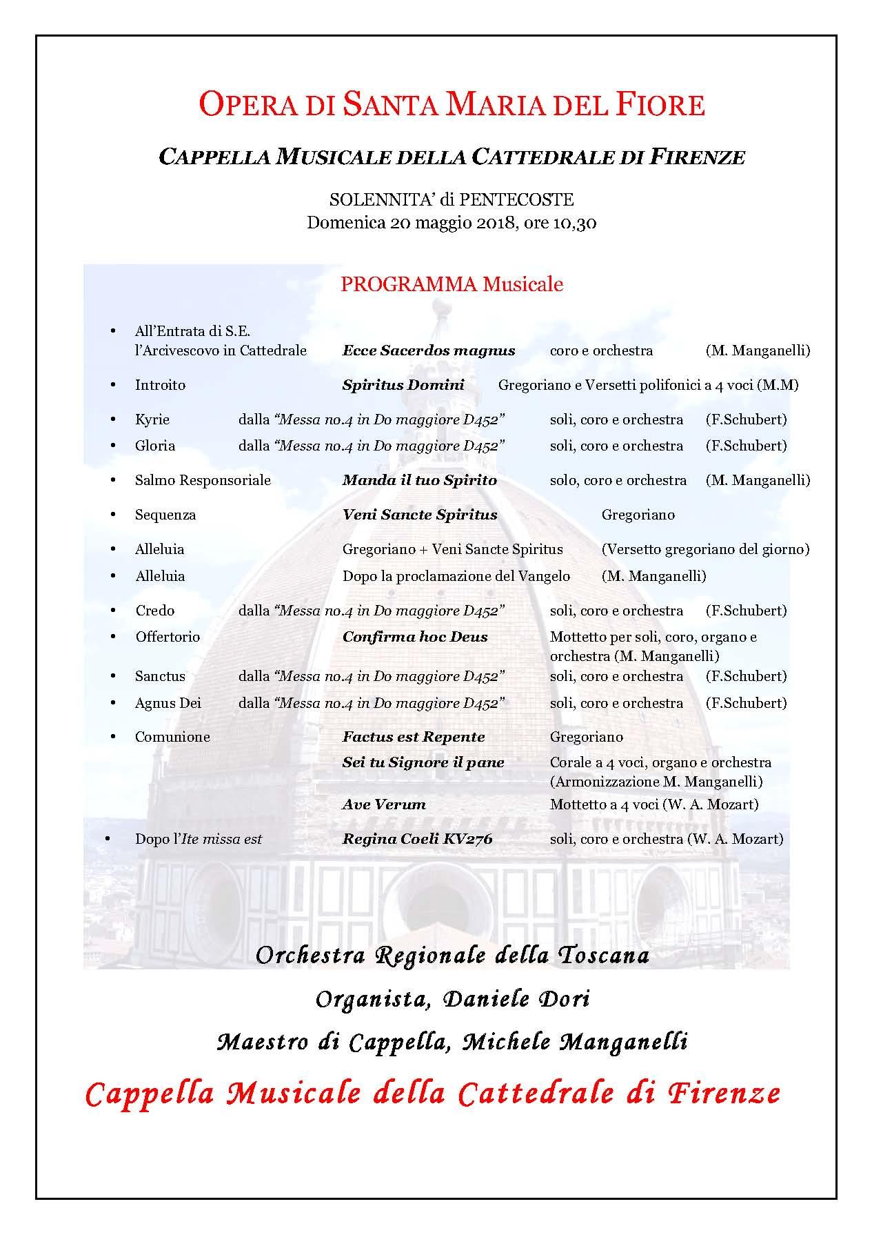 Programma di Pentecoste