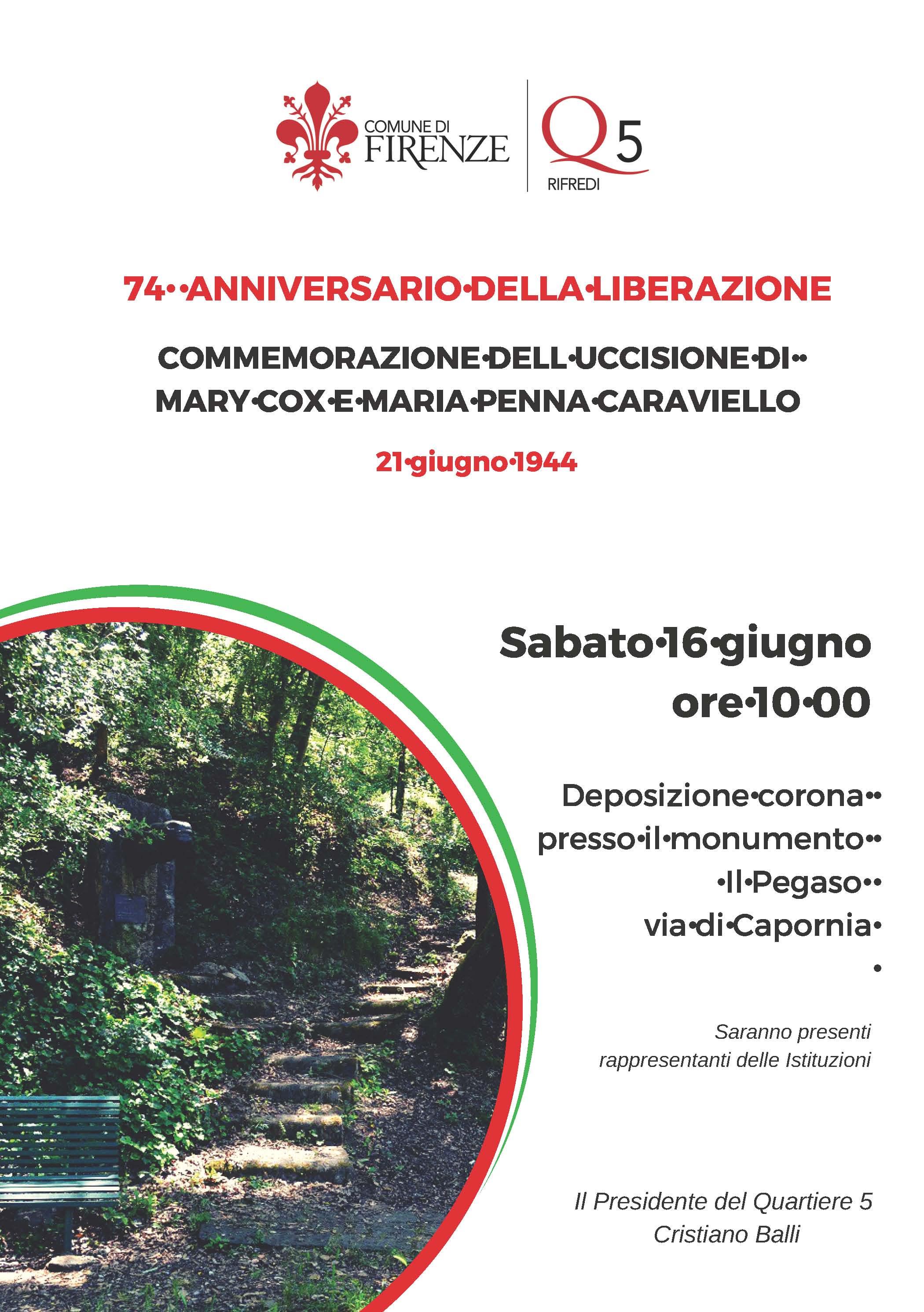 Locandina Anniversario Liberazione - Commemorazione Caraviello