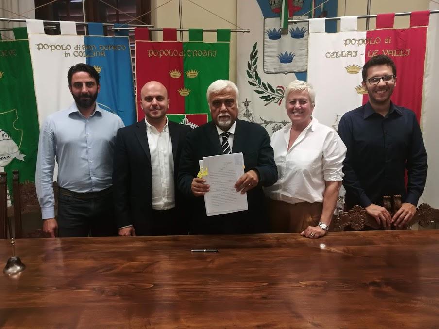 Rignano firma la convenzione per la viabilità di Toghi