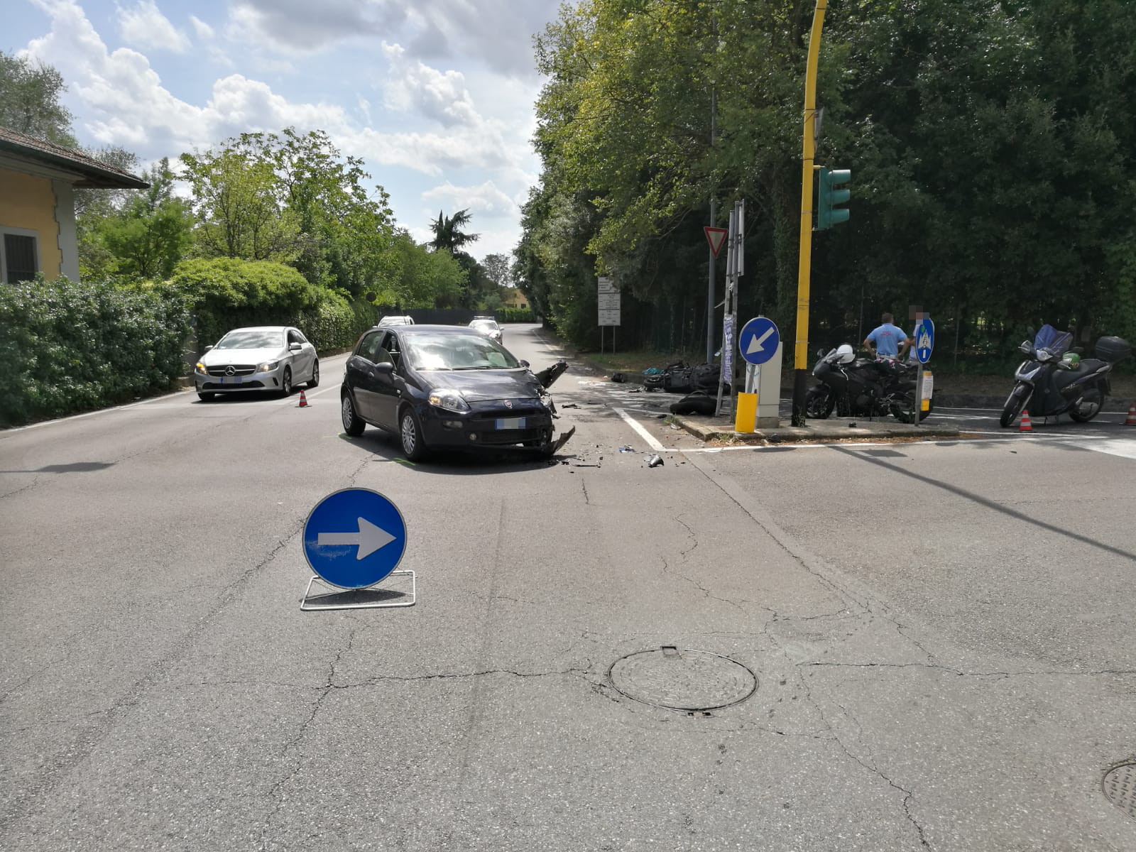 Incidente Via Togliatti (fonte foto comunicato stampa)
