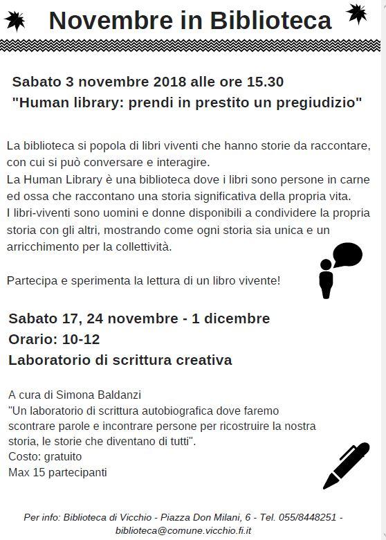 Novembre in biblioteca a Vicchio