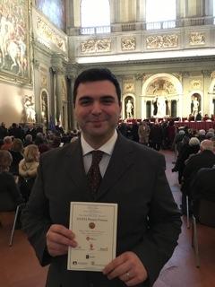 Gianfranco Poli riceve il «Fiorino di bronzo» al 26° Premio Firenze