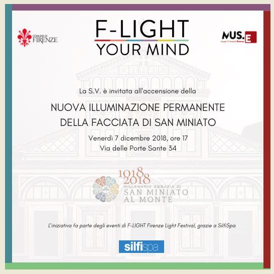 Invito inaugurazione nuova illuminazione Basilica di San Miniato