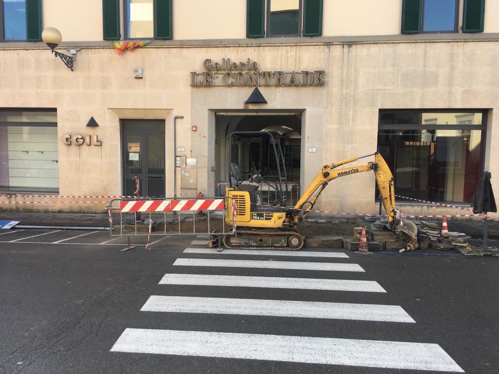 Manutenzione e abbattimento delle barriere architettoniche, intervento in Via Landini Marchiani