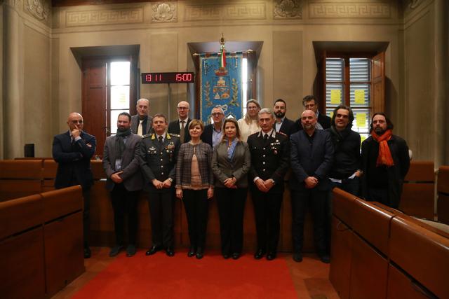Il Prefetto e i sindaci dell'Empolese Valdelsa al comitato per l'ordine e la sicurezza (foto da comunicato )