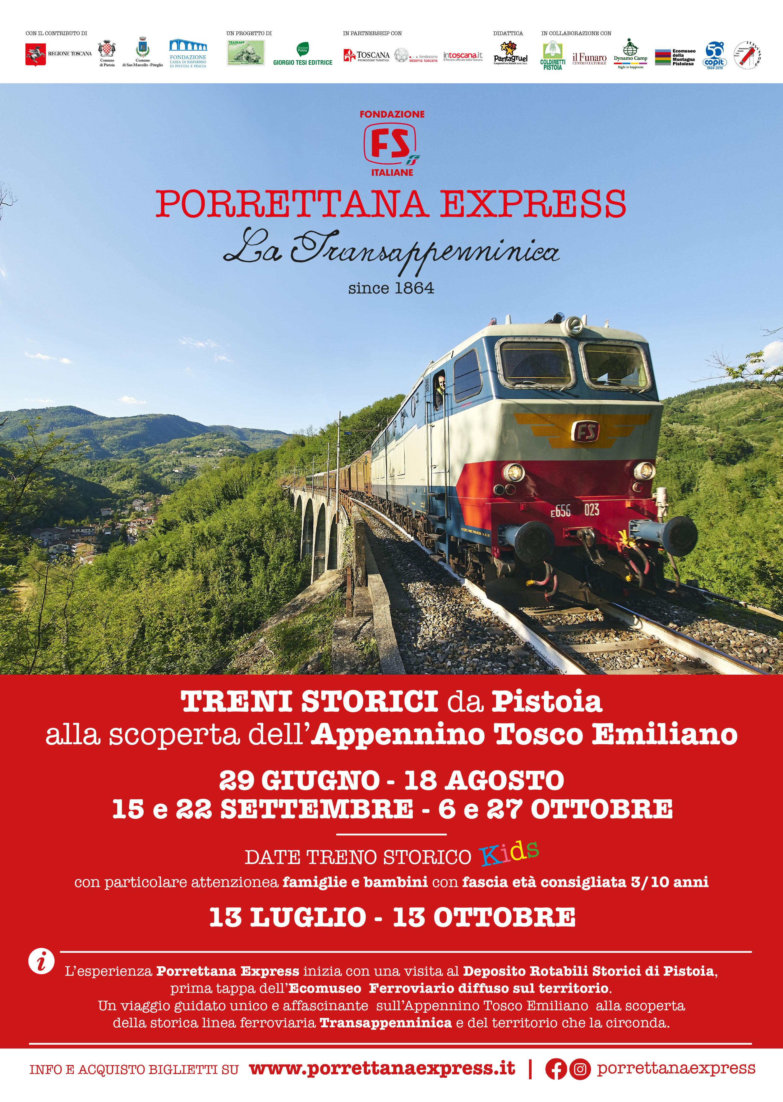 Locandina di Porrettana Express (immagine da comunicato)