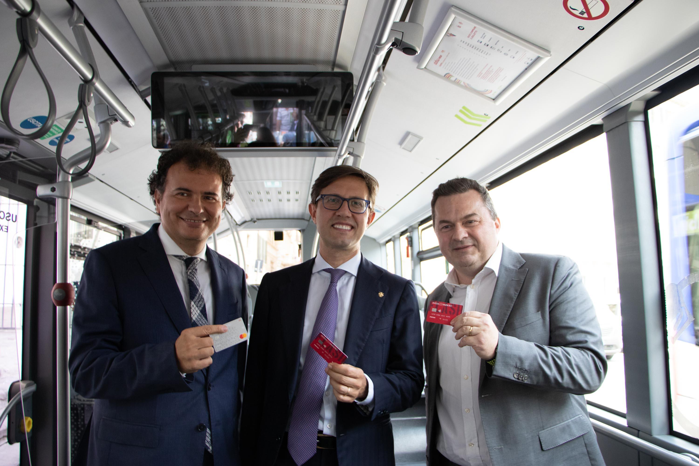 Presentazione del pagamento cashless sui bus Ataf