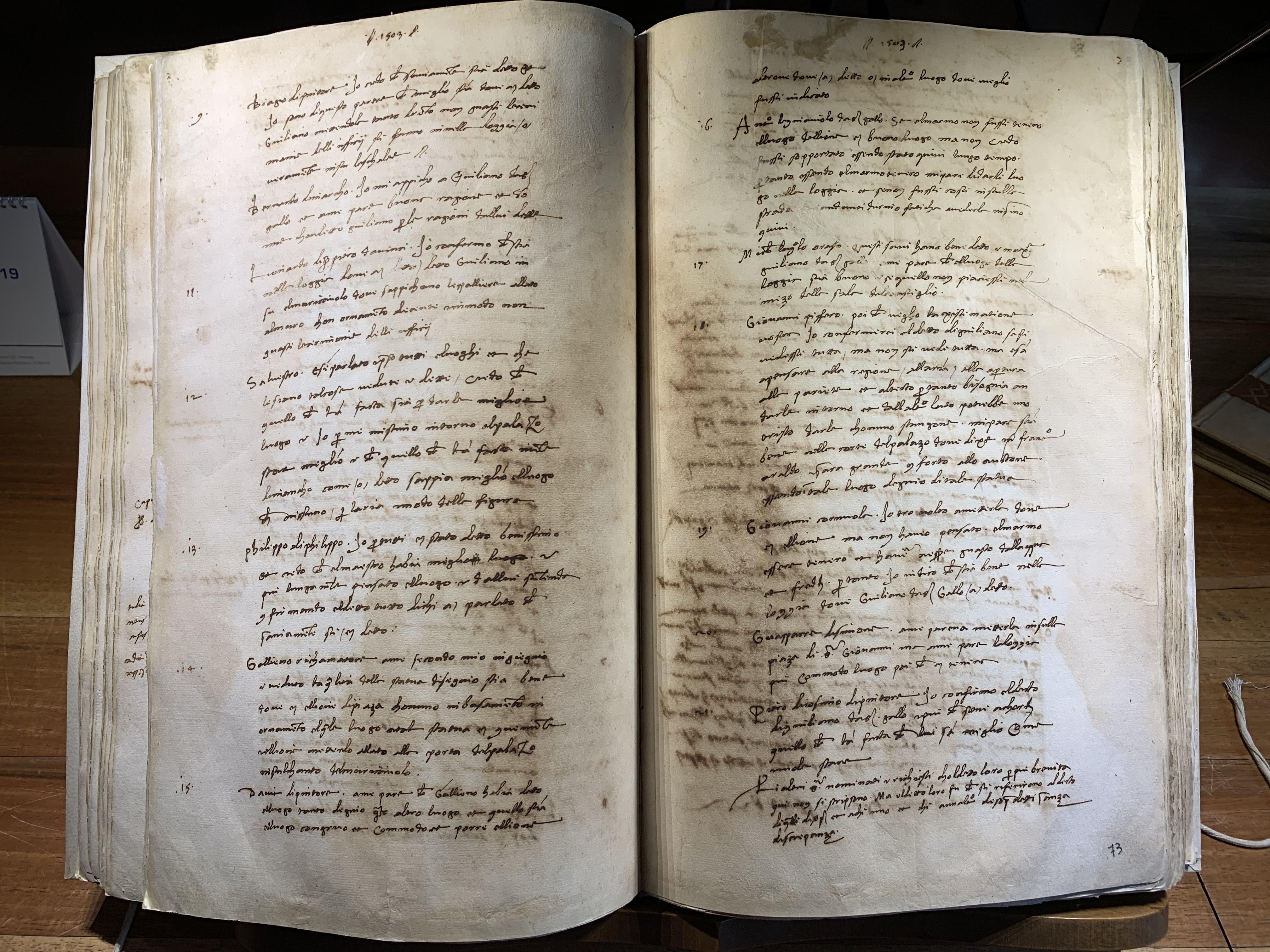 Verbale riunione 25 gennaio 1504 (foto da comunicato)
