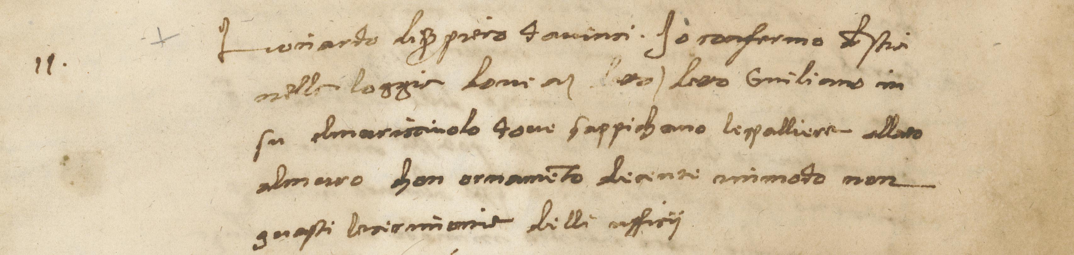 Parere di Leonardo da Vinci - archivio dell'Opera di S.Maria del Fiore (foto da comunicato)