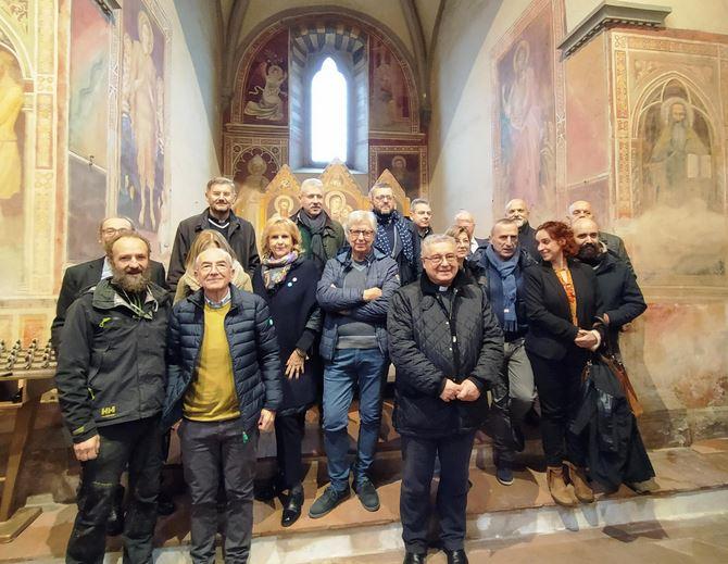 Partecipanti alla inaugurazione dei restauri dell'oratorio di San Bartolomeo