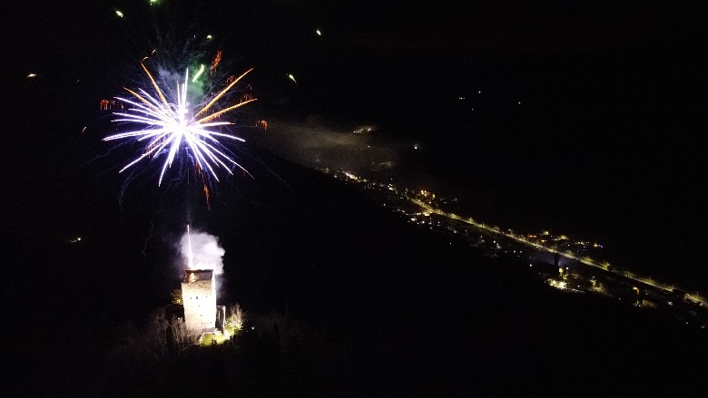 fuochi artificio marradi anno dante