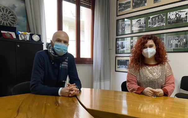 sindaci Giulia Mugnai (Comune di Figline e Incisa Valdarno) e Piero Giunti (Comune di Reggello