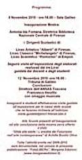 """Programma dell'inaugurazione della mostra """"FutuLIBERO"""""""