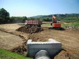 I lavori per la realizzazione della Cassa di Villa Antinori
