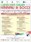 Programma dei Campionati italiani di bocce
