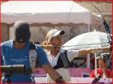 Sara Stianti sul campo di gara