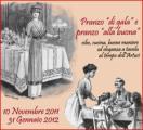 Immagine dal manifesto della mostra 'Pranzo di gala e pranzo alla buona. Cibo, cucina, buone maniere ed eleganza al tempo dell'Artusi'