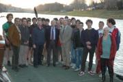 la Canottieri Comunali col Presidente Buonfiglio