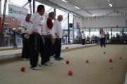 Una fase di gioco dei Campionati Regionali di Bocce edizione 2012