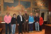 Volley a San Miniato. Nella foto:  Maltinti, Spalletti, Gabbanini, Ceccarini,Leoni, Bacchi e Corsi