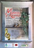 Locandina/Programma del pomeriggio musicale organizzato da Vivere Insiemeonlus