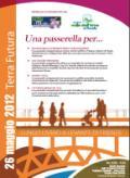 Locandina della presentazione della passerella pedonale sull'Arno a Compiobbi