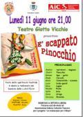 Locandina dello spettacolo 'E' scappato Pinocchio'