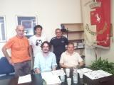 Il sindaco Lorenzini, l'assessore Giancaterino ed altri