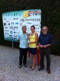 Presidente Bandini, la vincitrice Meini ed il Vicepresidente Roscitano
