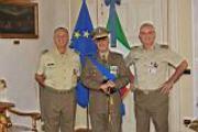 Il Generale Adami (Comandante del CME Toscana), al centro il tenente colonello Paderi a destra il Colonello Maldera (Capo di Stato Maggiore del CME Toscana)