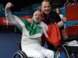 Foto della vittoria di Alessio Sarri (bronzo)