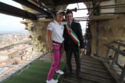 La golfista Giulia Sergas ed il vice Sindaco Dario Nardella