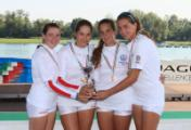 Il quattro senza femminile Junior da sx. Elisa Muccini, Lucrezia Fossi, Sofia Ferrara e Beatrice Arcangiolini