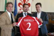 Il vicesindaco Nardella alla presentazione della squadra Isolotto Fondiaria calcio a 5