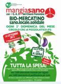 Locandina del biomercatino 'Mangiasano' a Pozzolatico