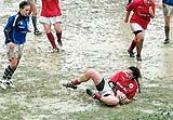 Linda Giuntini in meta contro l'Empoli Rugby Ladies