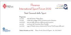 Florence International Sport Forum