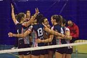 Foto di gruppo del Calenzano Volley