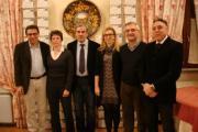 Da sinistra Leonello Guidi, Maria Letizia Bartolozzi, Vittorio Gabbanini, Elisabetta Bertini, Renato Colombai, Michele Delena