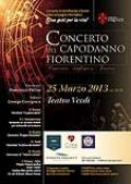 Locandina del Concerto del Capodanno fiorentino al Teatro Verdi di Firenze