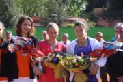 Le finaliste Fiona Ferro a destra in maglia blu Ana Konjuh