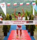 Triathlon a Bilancino. Alberto Casadei